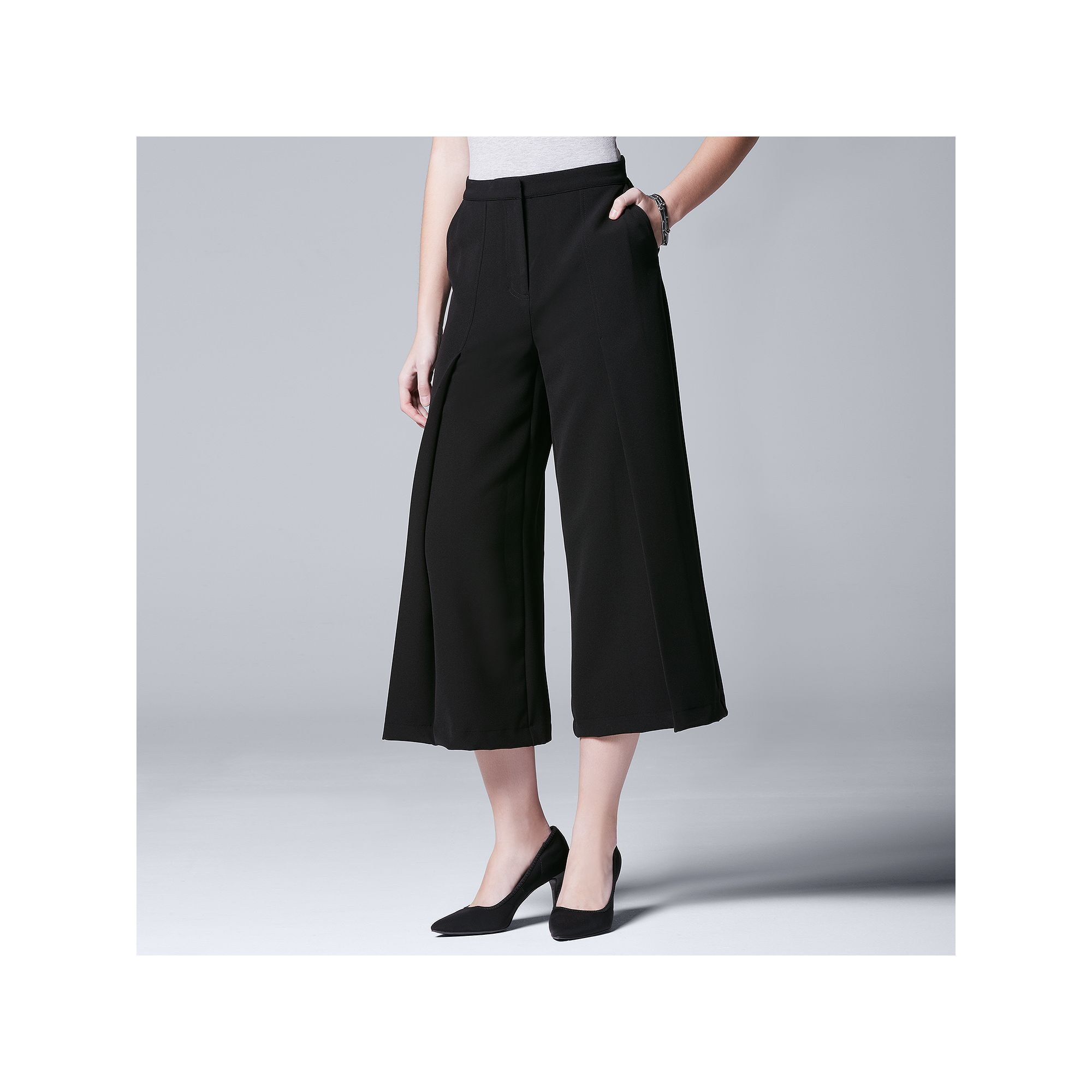 bfdcff4011730 Women's Simply Vera Vera Wang Pleated Culottes   Products   Simply ...