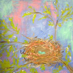 Kids Paint Afternoon 5.6.14 - just for Kiddos at @Vino and van Gogh - Nest Painting