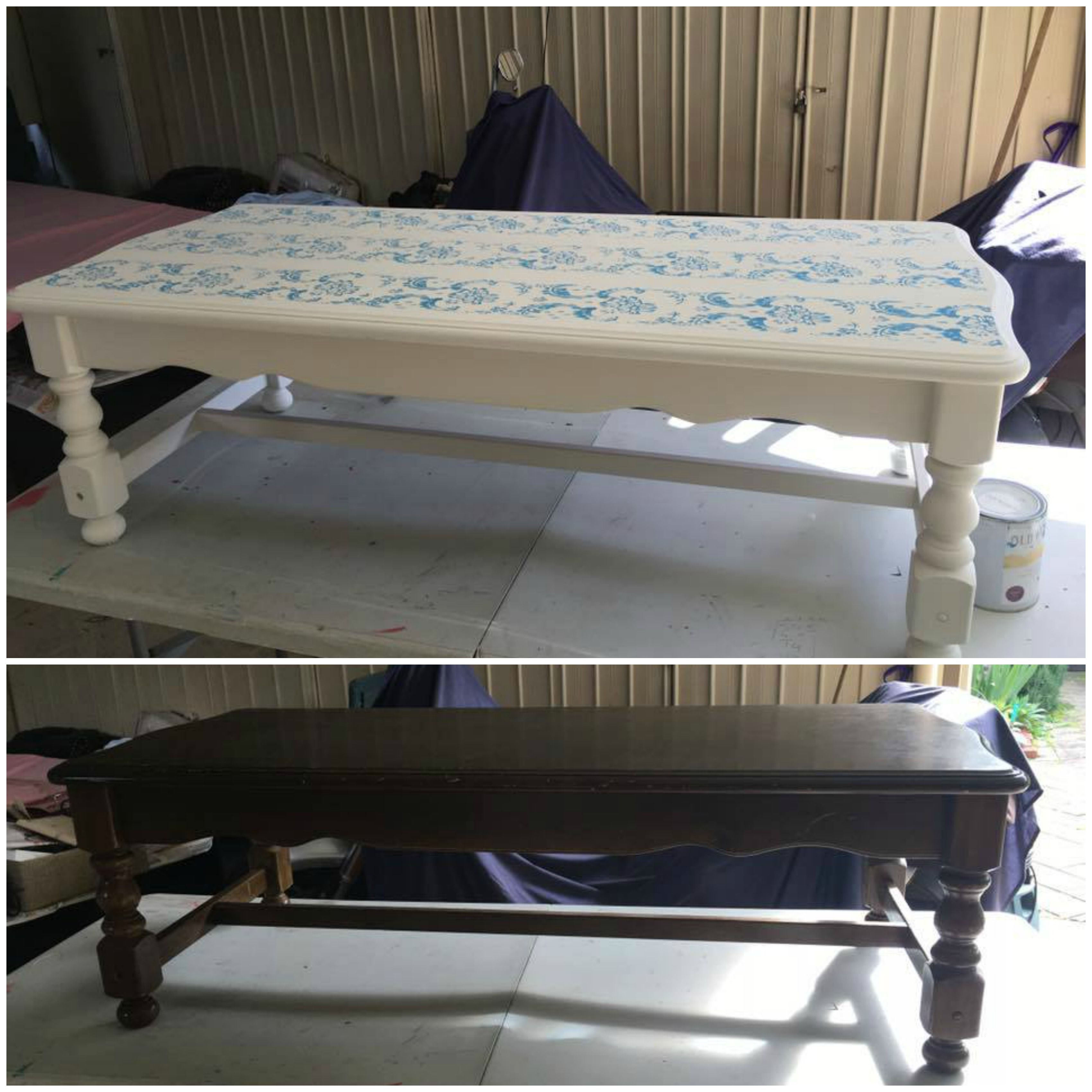 before & after coffee table revamp #coffeetablemakeover