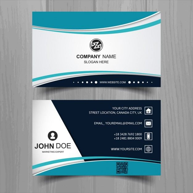 Modern business card with turquoise wavy shapes catalogue modern business card with turquoise wavy shapes modern accmission Gallery