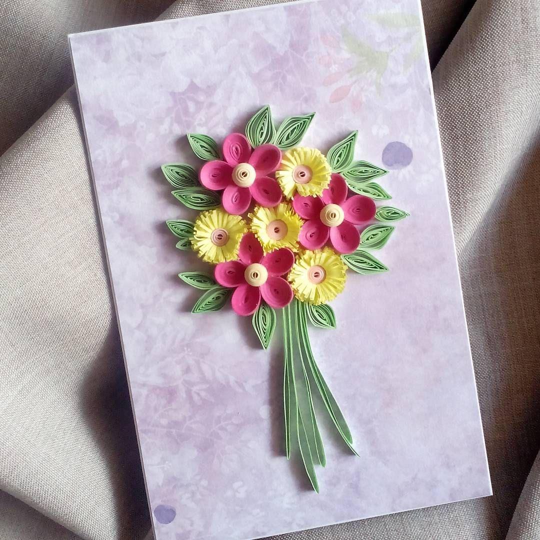 цветы из бумаги квиллинг для открытки своими руками морская рыба, которая