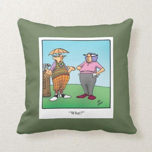 Funny Golf Humor Pillow Gift | Zazzle.com #golfhumor