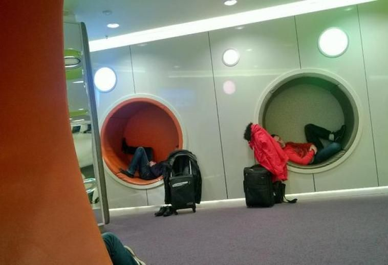 Sleeping in Dublin Airport Showers, Sleep Pods and