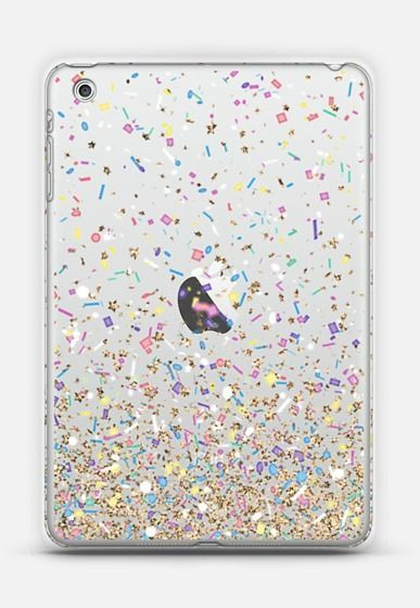 Gold Multicolor Pastel Confetti Transparent
