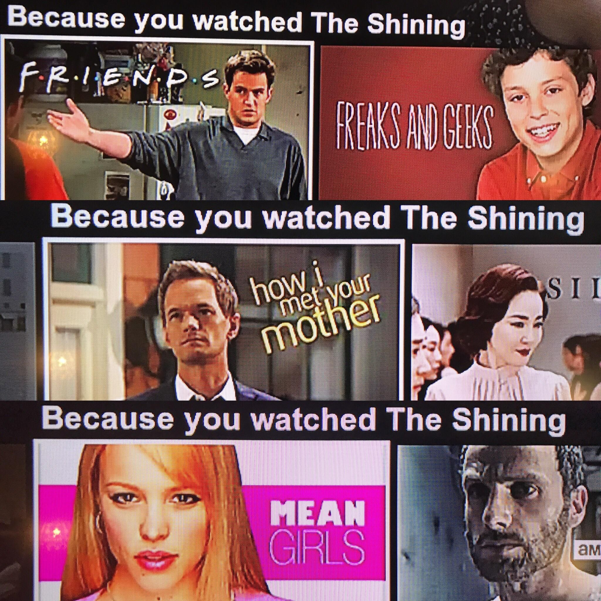 Have you even seen The Shining, Netflix? (With images