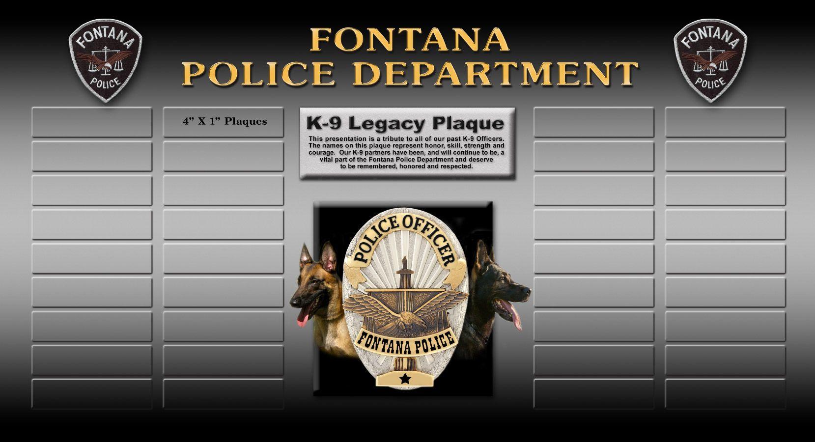 33 Fontana Pd Ideas Fontana Badge Frame