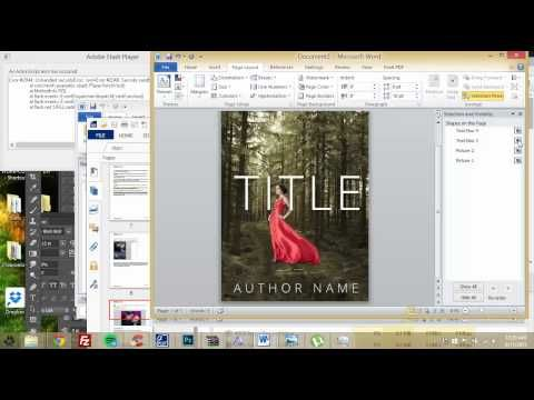 How To Make An Ebook Cover In Microsoft Word Part 1 Youtube Free Book Cover Design Ebook Cover Book Cover Template