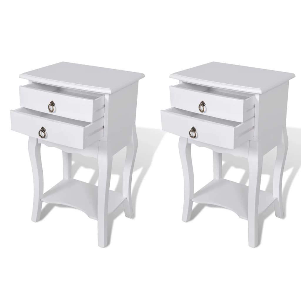 Tidyard Tables De Chevet 2 Pcs Avec Tiroirs Table De Nuit Table D Appoint En Mdf Et Bois De Pin Blanc Decor Furniture Home Decor