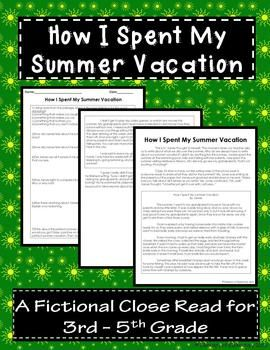 Pin By Element Of Elementary On Pre K 8 Hot Off The Presse Latest Tpt Release Close Reading Classroom Teaching How I Spent My Holiday Essay For Kids