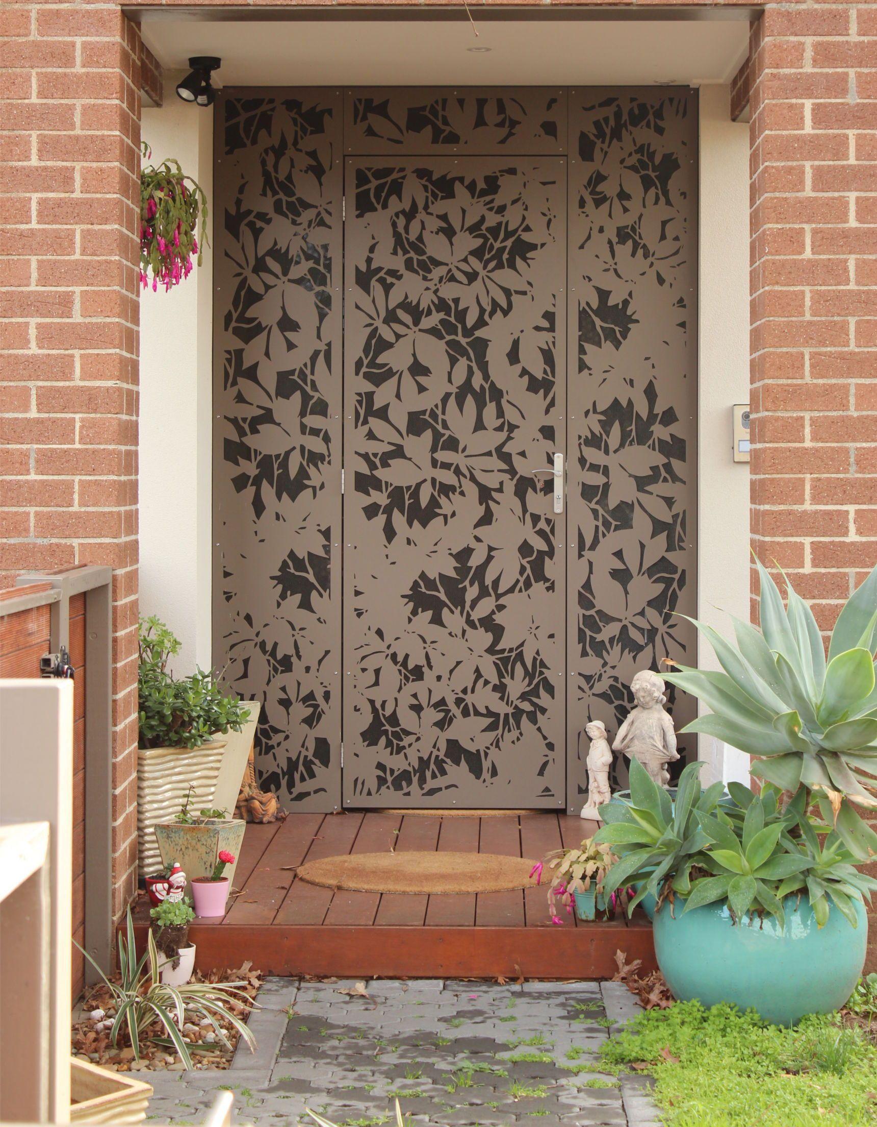 Security entrance gate glazed decorative security entrance doors - Security Doors Melbourne Laser Cut Doors Melbourne Entry