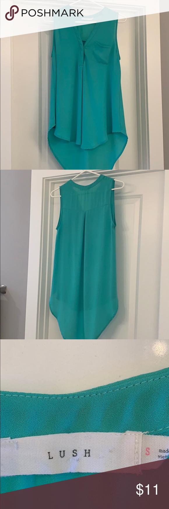 Lush Green Mint Teal Hi Low Tank Euc Size S In 2020 Clothes Design Fashion Lush Green