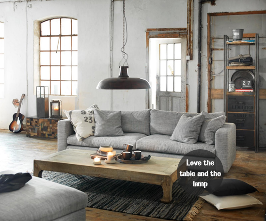 i prefer thicker lines and a little more cozy but this is industrial living roomsindustrial - Industrial Living Room Decorating