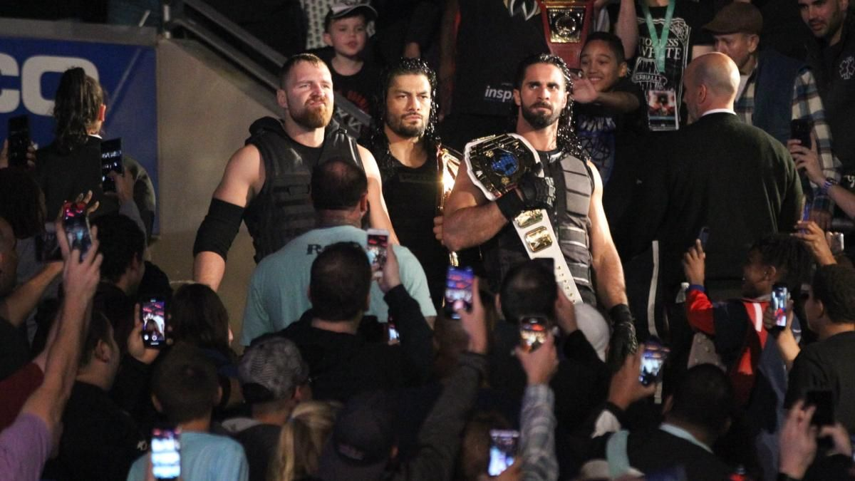 Photos The Hounds Of Justice Mix It Up With Strowman Dolph Drew One More Time Roman Reigns The Shield Wwe Braun Strowman