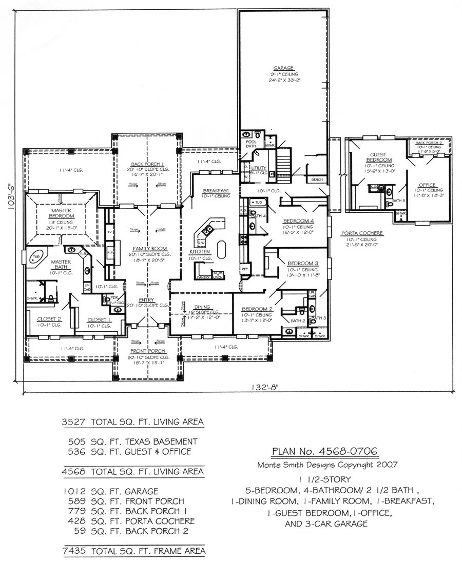 Plan No 45680706 WANT TO DO FOR MY HOUSE Pinterest – 5 Bedroom 1 Floor House Plans