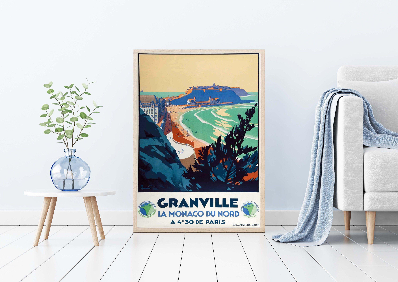 Granville Poster Monaco Of The North 209 Granville Poster Granville Print Manche Poster France Poster Seaside Resort Poster In 2020 Granville Seaside Resort Manche