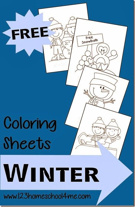 FREE Winter Coloring Sheets | Pinterest | Toddler preschool ...