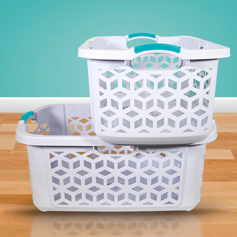 Laundry Baskets White Home Logic Stacking Basket Laundry