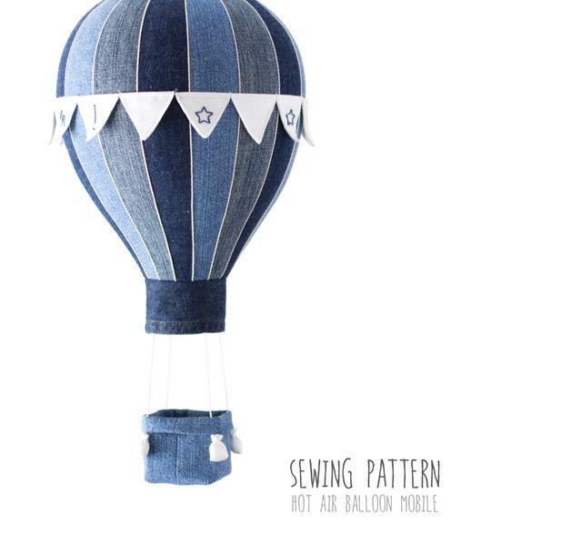 n hanleitung schritt f r schritt f r ein mobile hei luftballon mit korb und fahnen zum. Black Bedroom Furniture Sets. Home Design Ideas