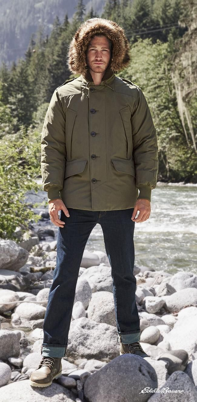 The B-9 Parka: An Eddie Bauer Original. First created for the U.S. ...