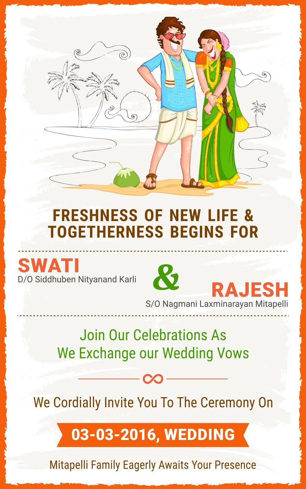 An Indian Wedding Invitation card for Social MediaI have