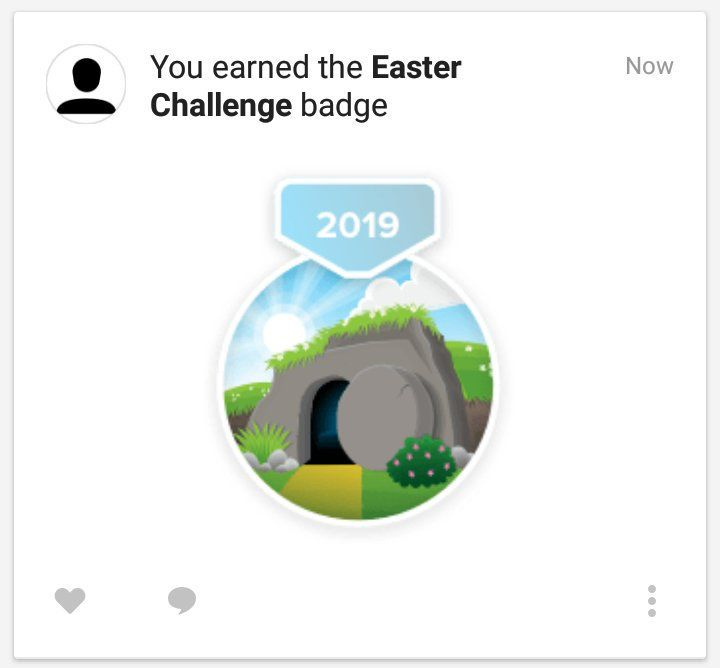 Easter Badge from YouVersion Bible App 🙏2️⃣0️⃣1️⃣9️⃣