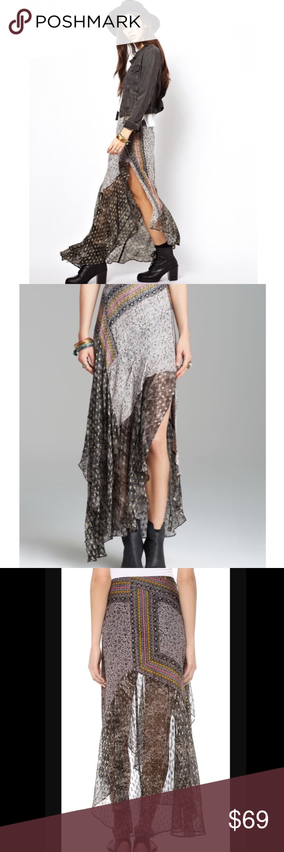 Spotted while shopping on Poshmark: Free People North Country Skirt 2! #poshmark #fashion #shopping #style #Free People #Dresses & Skirts