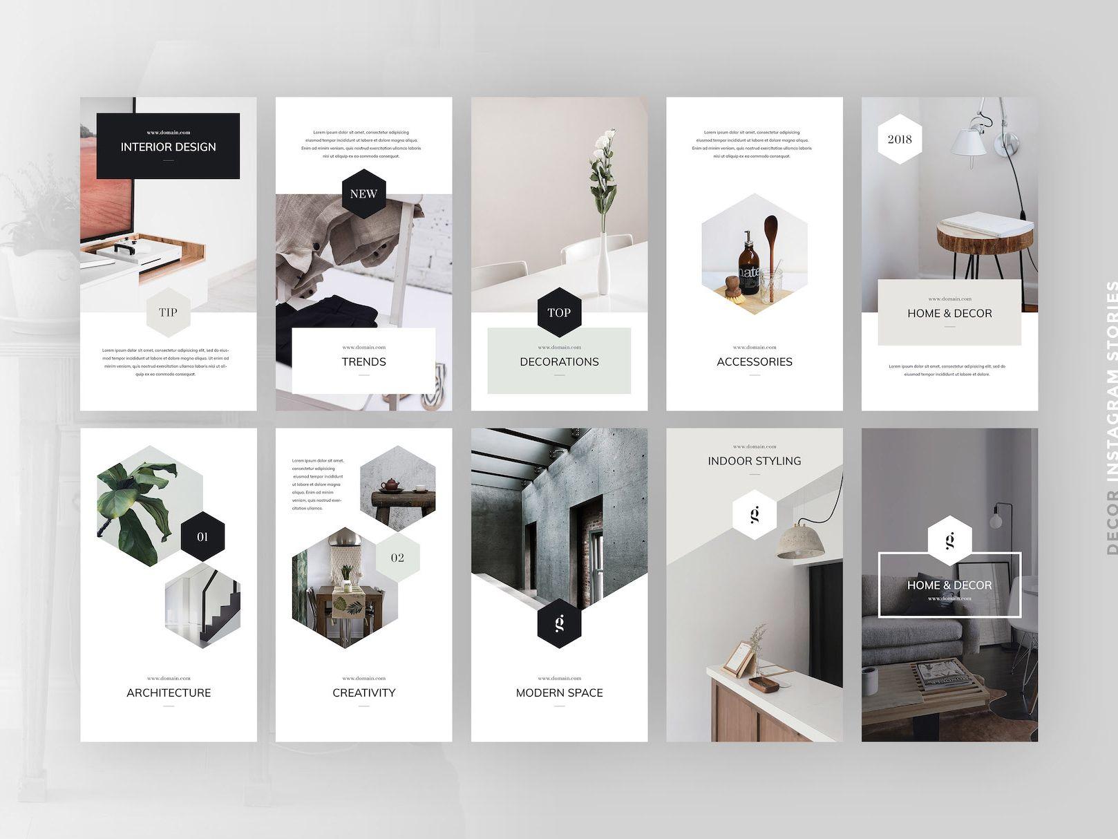 Decor PSD Instagram Stories Interior design instagram