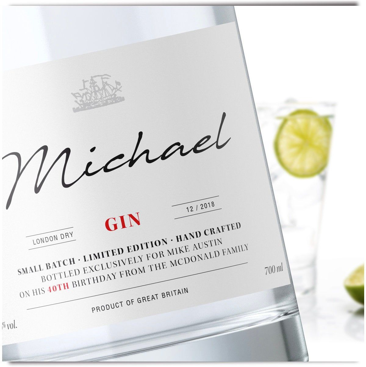 Personalised Gin label // Birthday Gin Labels // Unique Birthday Gift // Personalised Gifts // Custom Wine Label // Original Gin #personalise #BirthdayGin #Etikett #Aufkleber #personalisiert #Gin #Custom #PersonalisedLabel #Label #gift