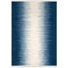 Tapis tissé à plat motif kilim en laine, lilus...