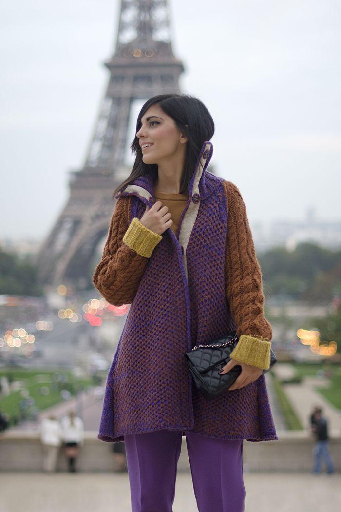 #LauraComolli wears Stefanel color block maxi pull on her blog Purses & I: During #ParisFashionWeek http://www.pursesandi.net/night-during-paris-fashion-week  #Stefanel #FeelMore FW2013/2014