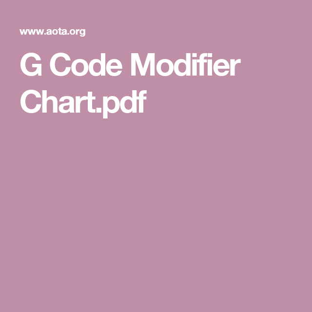 G Code Modifier Chart Pdf Therapy Gaming Logos Occupational Therapy