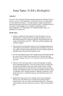 to kill a mockingbird  essay topics free document download for  to kill a mockingbird  essay topics free document download for teachers