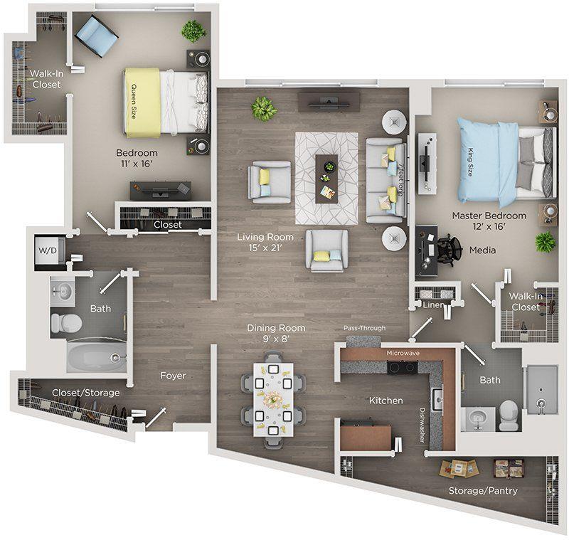 Renaissance City Club Apartments In Detroit Downtown Apartment Apartment Layout Penthouse Apartment Floor Plan