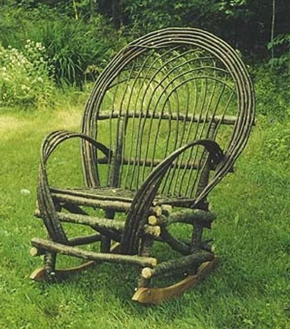 Maine Rustic Twig Rocking Chair