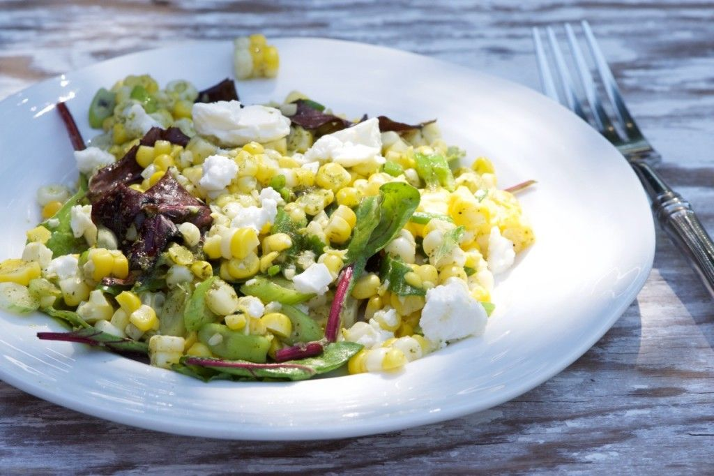Corn and Scallion Salad with Cilantro-Mint Dressing | Kitchen on Fourth