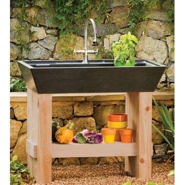 Salus Potting Sink By Stone Forest Garten Wasserhahn Garten Waschbecken Garten
