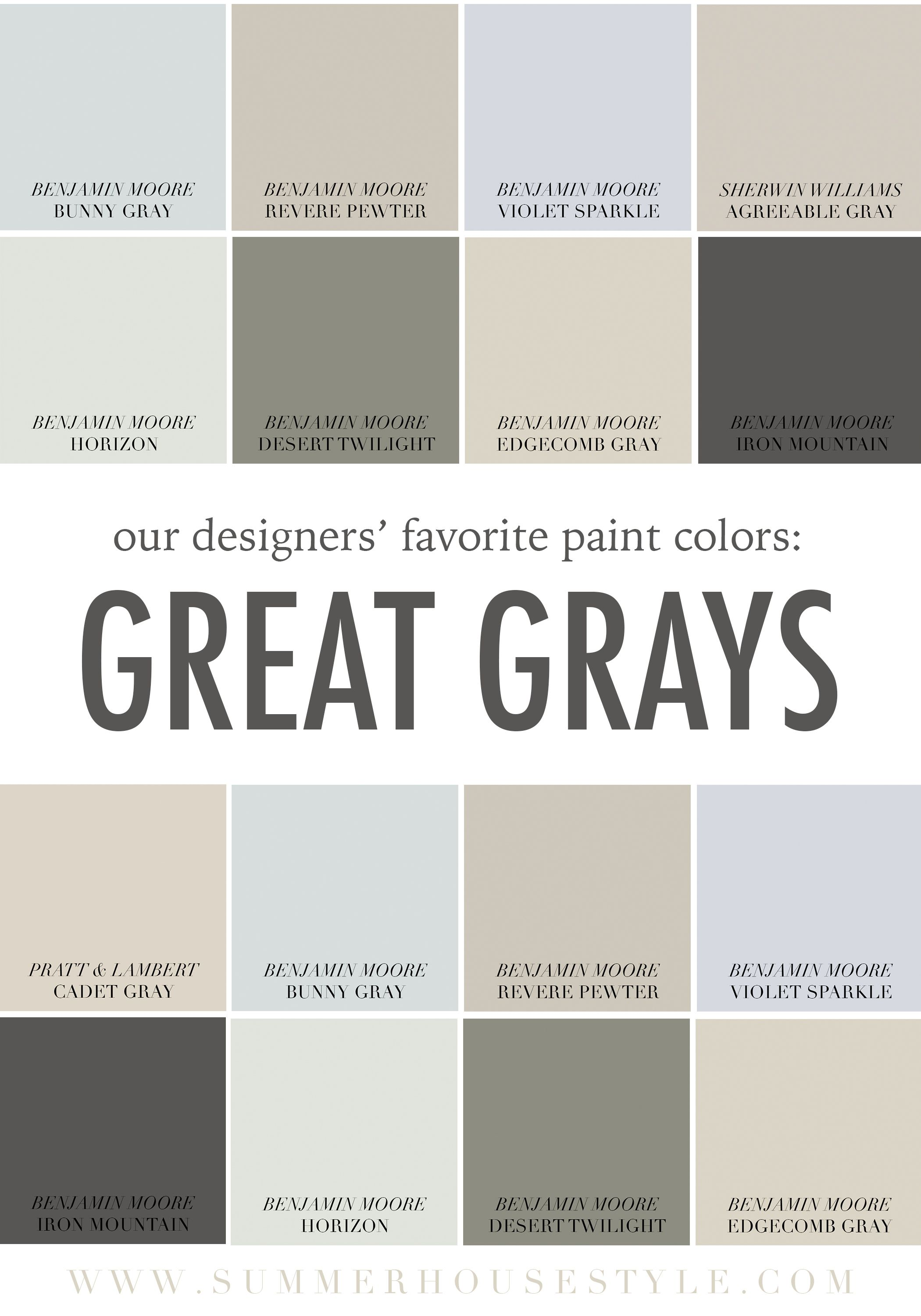 The Best Paint Colors With Gray Undertones Www