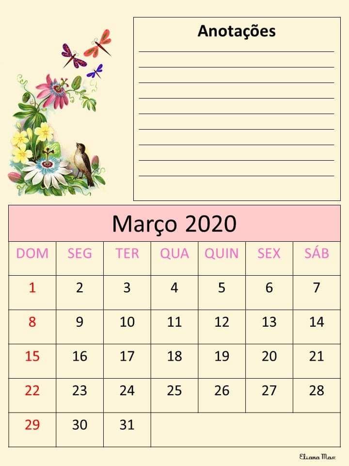 Calendario 2020 Eliana Max Em 2020 Aulas De Arte Para