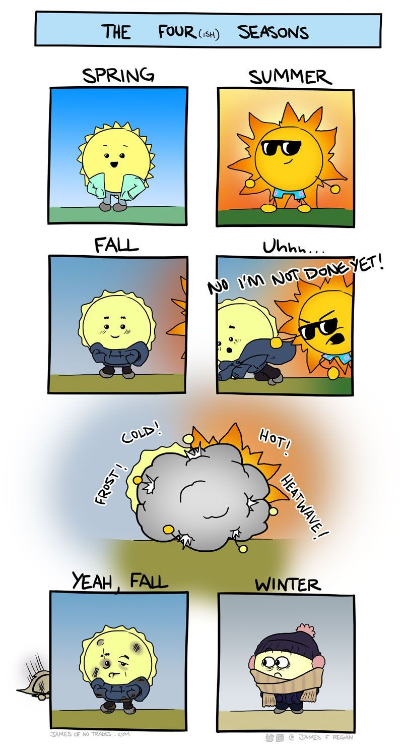The Four(ish) Seasons Funny weather, Me as a girlfriend