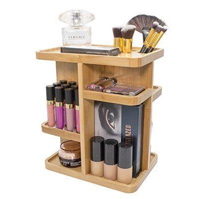 Dotted Line Alyssa Cosmetic Organizer Wayfair In 2020 Small Bathroom Organization Cosmetic Organizer Bamboo Bathroom