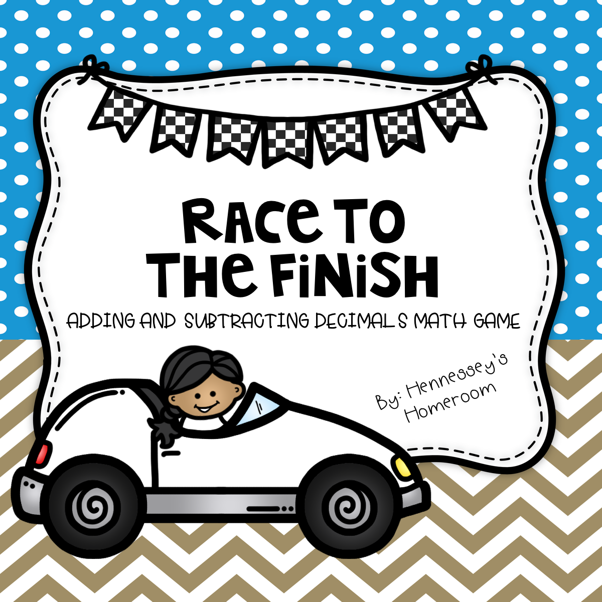 Race To The Finish Math Game Adding Amp Subtracting