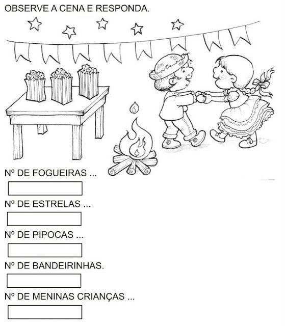Pedagogiccos Atividades Para Trabalhar Festa Junina Parte 1