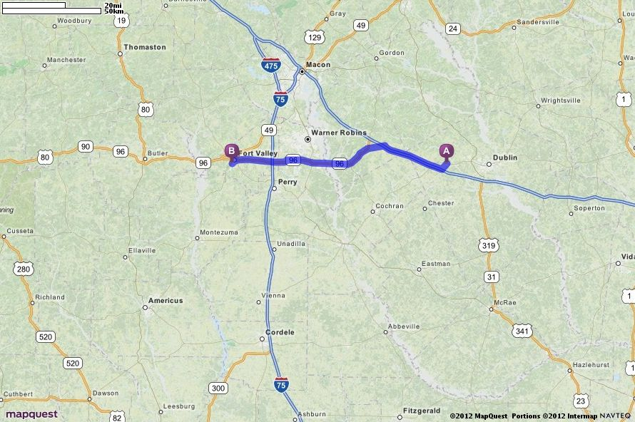 Mapquest Georgia.Driving Directions From Dudley Georgia To Fort Valley State