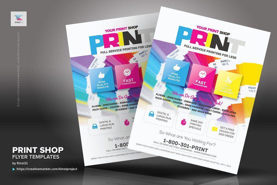 Print Shop Flyer Template Flyer Template Business Cards And Flyers Business Flyer Templates