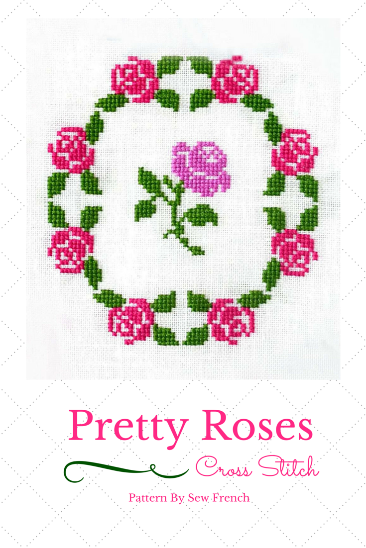 Pretty cross stitch pattern easy zen stitching silk or dmc floss
