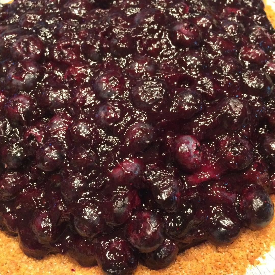 Blueberry pie for desert tonight. #readingmonster #goodfood #desert #blueberrypie #pie #summer