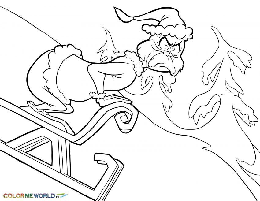 Holiday Lights Coloring Page Grinch Grinch Coloring Pages Printable Christmas Coloring Pages Christmas Coloring Pages