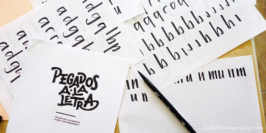 Taller de caligrafía – Pegados a la letra