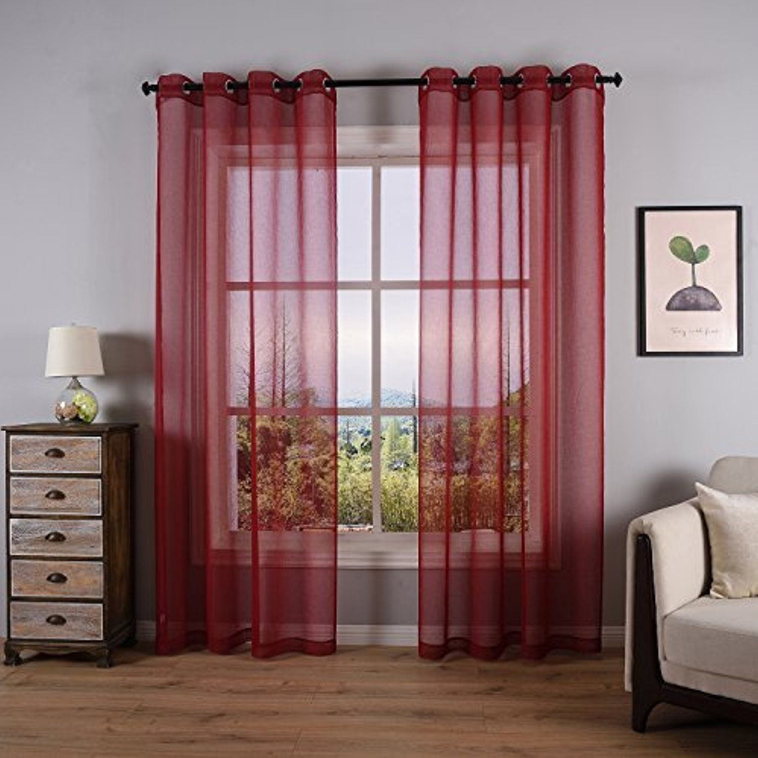 Sheer Curtains For Living Room Bedroom