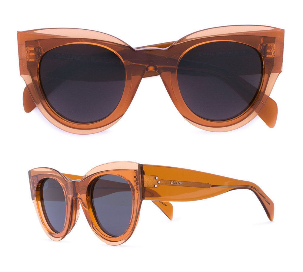 f085ff53b6a CELINE Petra Sunglasses in Transparent Orange Acetate CL 41447 S  fashion   clothing  shoes  accessories  womensaccessories   sunglassessunglassesaccessories ...